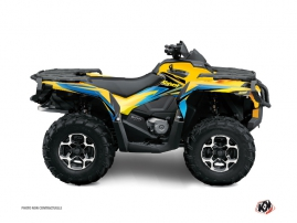 Can Am Outlander 400 XTP ATV STAGE Graphic kit Yellow Blue