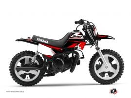 Yamaha PW 80 Dirt Bike STAGE Graphic kit Black Red