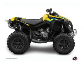 Graphic Kit ATV Stage Can Am Renegade Yellow Blue