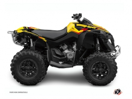 Graphic Kit ATV Stage Can Am Renegade Yellow Red