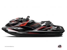 Graphic Kit Jet Ski Stage Seadoo RXT-GTX Grey Red