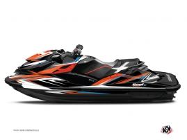 Graphic Kit Jet Ski Stage Seadoo RXT-GTX Orange Blue