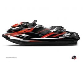 Graphic Kit Jet Ski Stage Seadoo RXT-GTX Red Black