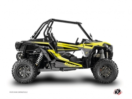 Graphic Kit UTV Stage Polaris RZR 1000 Turbo Black Yellow