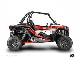 Graphic Kit UTV Stage Polaris RZR 1000 Turbo Black Red
