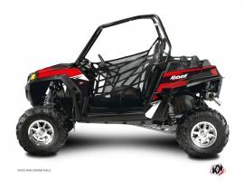 Graphic Kit UTV Stage Polaris RZR 900 XP Black Red