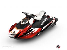 Graphic Kit Jet Ski Stage Seadoo Spark Red Black