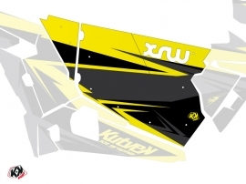 Graphic Kit Doors Standard XRW Stage UTV Polaris RZR 900S/1000/Turbo 2015-2017 Black Yellow