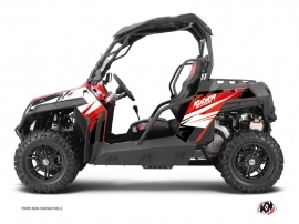 Graphic Kit UTV Stage CF Moto Z Force 1000 Black Red