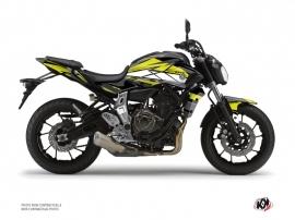 Yamaha MT 07 Street Bike Steel Graphic Kit Black Yellow