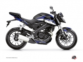 Yamaha MT 125 Street Bike Steel Graphic Kit Black Blue