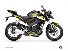 Yamaha MT 125 Street Bike Steel Graphic Kit Black Yellow
