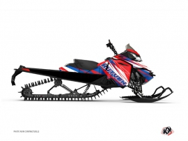 Graphic Kit Snowmobile Torrifik Skidoo REV-XM Blue Red