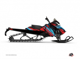Graphic Kit Snowmobile Torrifik Skidoo REV-XM Red Blue