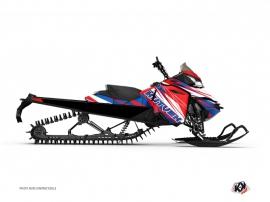 Graphic Kit Snowmobile Torrifik Skidoo REV-XP Blue Red