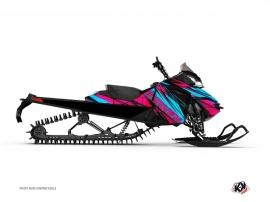 Graphic Kit Snowmobile Torrifik Skidoo REV-XP Pink Blue
