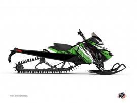 Graphic Kit Snowmobile Torrifik Skidoo REV-XP Green Black
