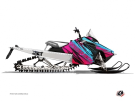 Polaris RMK Snowmobile TORRIFIK Graphic kit Pink Blue