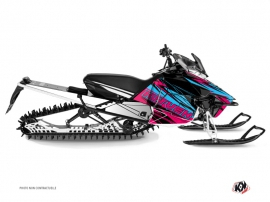 Yamaha SR Viper Snowmobile Torrifik Graphic Kit Pink Blue