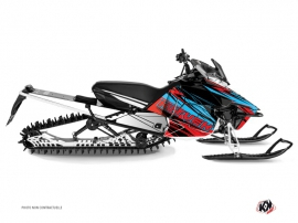 Yamaha SR Viper Snowmobile Torrifik Graphic Kit Red Blue
