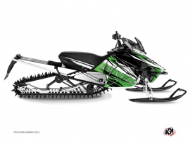 Yamaha SR Viper Snowmobile Torrifik Graphic Kit Green Black
