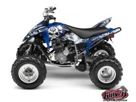 Yamaha 250 Raptor ATV TRASH Graphic kit Black Blue