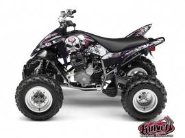 Yamaha 250 Raptor ATV TRASH Graphic kit Black Pink