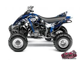 Graphic Kit ATV Trash Yamaha 350 Raptor Black Blue