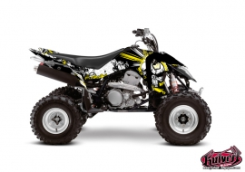 Graphic Kit ATV Trash Suzuki 400 LTZ IE Black Yellow