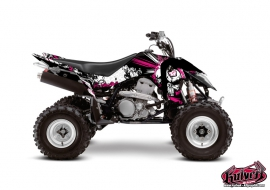 Graphic Kit ATV Trash Suzuki 400 LTZ IE Black Pink