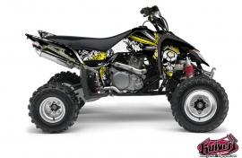 Suzuki 450 LTR ATV TRASH Graphic kit Black Yellow