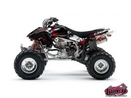 Graphic Kit ATV Trash Honda 450 TRX Black Red