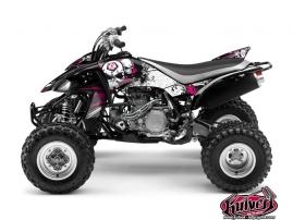 Yamaha 450 YFZ ATV TRASH Graphic kit Black Pink