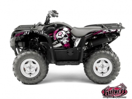 Yamaha 550-700 Grizzly ATV TRASH Graphic kit Black Pink