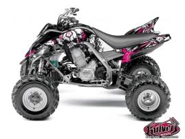 Yamaha 700 Raptor ATV Trash Graphic Kit Black Pink