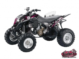 Graphic Kit ATV Trash Honda 700 TRX Black - Pink
