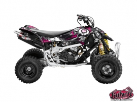 Can Am DS 450 ATV Trash Graphic Kit Black Pink