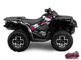 Can Am Outlander 1000 ATV TRASH Graphic kit Black Pink
