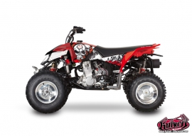Polaris Outlaw 450 ATV TRASH Graphic kit Black Red