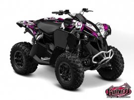 Can Am Renegade ATV TRASH Graphic kit Black Pink