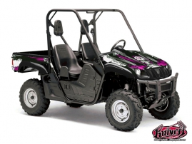 Graphic Kit UTV Trash Yamaha Rhino Black Pink