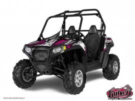 Polaris RZR 900 XP UTV Trash Graphic Kit Black Pink