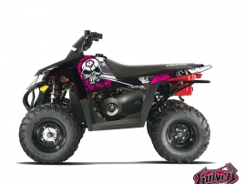 Polaris Scrambler 500 ATV TRASH Graphic kit Black Pink