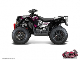 Polaris Scrambler 850-1000 XP ATV TRASH Graphic kit Black Pink