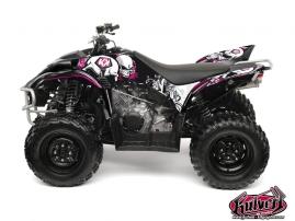 Yamaha 350-450 Wolverine ATV TRASH Graphic kit Black Pink
