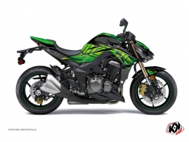 Kawasaki Z 1000 Street Bike ULTIMATE Graphic kit Black Green