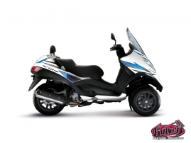 Graphic Kit Maxiscoot Velocity Piaggio MP 3 White Blue