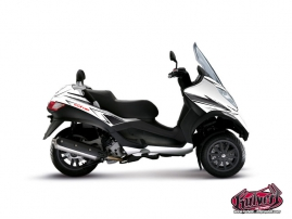 Graphic Kit Maxiscoot Velocity Piaggio MP 3 White Black