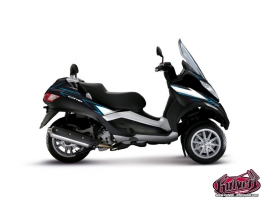 Graphic Kit Maxiscoot Velocity Piaggio MP 3 Blue