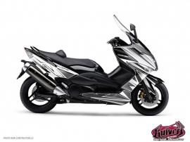 Graphic Kit Maxiscoot Velocity Yamaha TMAX 500 White Black
